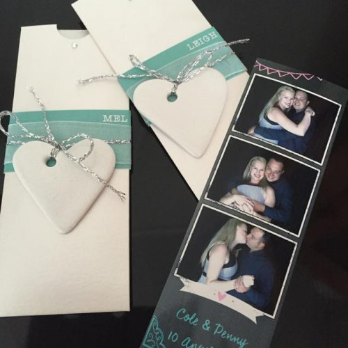 Photo Booths with Handmade Photo Sleeves